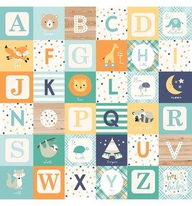 "Papel 12""x12"" Hello Baby Boy Alphabet Blocks"