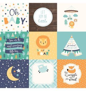 """Papel 12""""x12"""" Hello Baby Boy 4x4 Journaling Cards"""