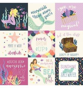 Mermaid Dreams 4x4 Journaling Cards