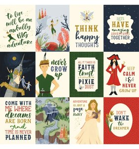 "Papel 12""x12"" Lost in Neverland 3x4 Journaling Cards"