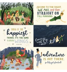 "Papel 12""x12"" Lost in Neverland 6x4 Journaling Cards"