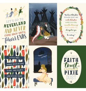 "Papel 12""x12"" Lost in Neverland 4x6 Journaling Cards"