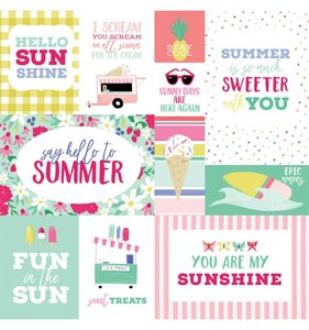 "Papel 12""x12"" Best Summer Ever Multi Journaling Cards"