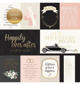 """Papel 12""""x12"""" Wedding Day Foil Journaling Cards"""