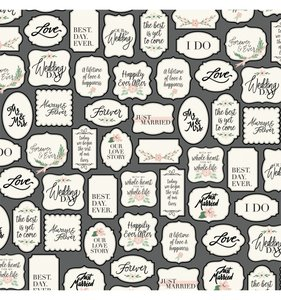 """Papel 12""""x12"""" Wedding Day Love Tags"""