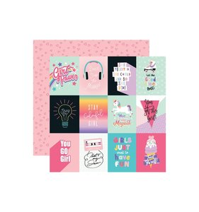 "Papel 12x12"" Teen Spirit Girl 3x4 Cards"