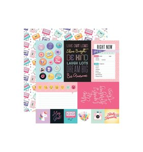 "Papel 12x12"" Teen Spirit Girl Journaling Cards"