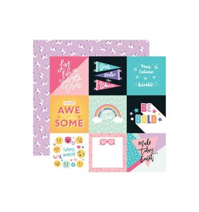 "Papel 12x12"" Teen Spirit Girl 4x4 Cards"