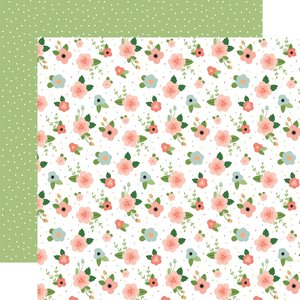 "Papel 12""x12"" Baby Girl Newborn Floral"