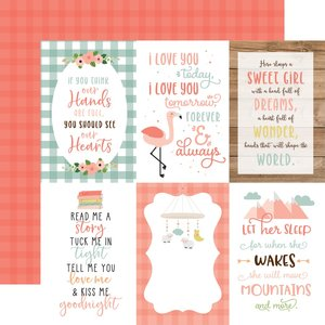 """Papel 12""""x12"""" Baby Girl 4X6 Journaling Cards"""