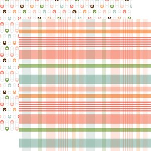 """Papel 12""""x12"""" Baby Girl New Arrival Plaid"""