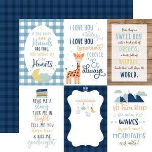 """Papel 12""""x12"""" Baby Boy 4X6 Journaling Cards"""