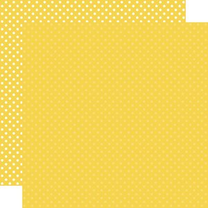 """Papel 12""""x12"""" Dots and Stripes Yellow"""
