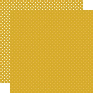 """Papel 12""""x12"""" Dots and Stripes Mustard"""