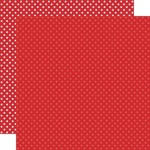 """Papel 12""""x12"""" Dots and Stripes Red"""