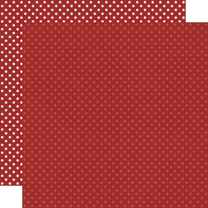 """Papel 12""""x12"""" Dots and Stripes Burgundy"""