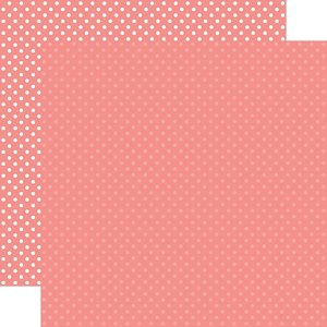"""Papel 12""""x12"""" Dots and Stripes Salmon Pink"""