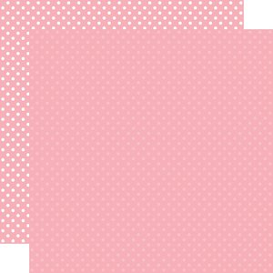 """Papel 12""""x12"""" Dots and Stripes Pink"""