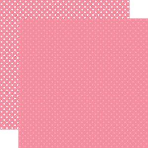 "Papel 12""x12"" Dots and Stripes Bubblegum Pink"