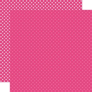 """Papel 12""""x12"""" Dots and Stripes Hot Pink"""