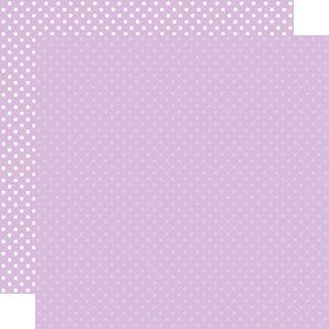 "Papel 12""x12"" Dots and Stripes Light Purple"