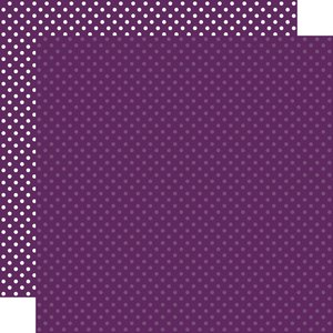"""Papel 12""""x12"""" Dots and Stripes Purple"""