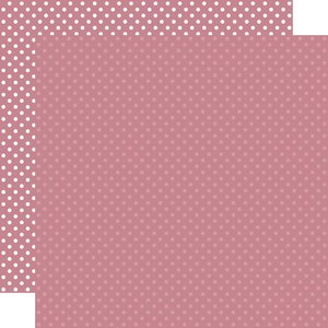 """Papel 12""""x12"""" Dots and Stripes Mauve"""