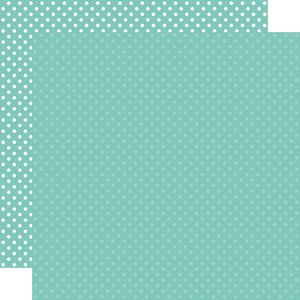 """Papel 12""""x12"""" Dots and Stripes Teal"""