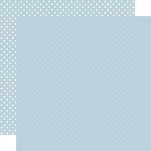 """Papel 12""""x12"""" Dots and Stripes Sky Blue"""