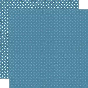 "Papel 12""x12"" Dots and Stripes Medium Blue"