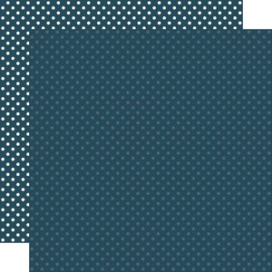 """Papel 12""""x12"""" Dots and Stripes Navy"""
