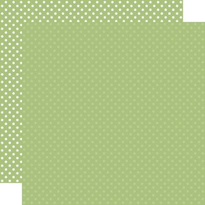 """Papel 12""""x12"""" Dots and Stripes Sage"""
