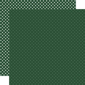 """Papel 12""""x12"""" Dots and Stripes Evergreen"""