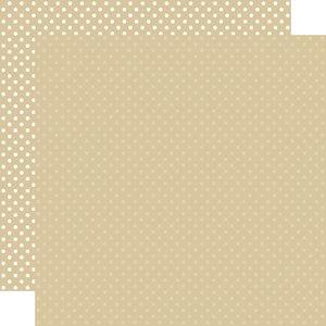 "Papel 12""x12"" Dots and Stripes Tan"
