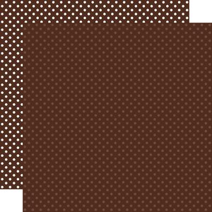 """Papel 12""""x12"""" Dots and Stripes Brown"""