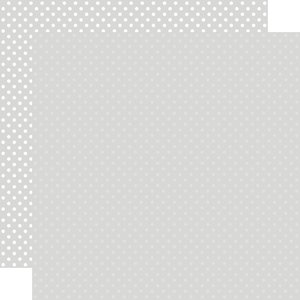 """Papel 12""""x12"""" Dots and Stripes Light Grey"""