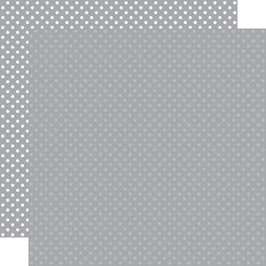 """Papel 12""""x12"""" Dots and Stripes Grey"""