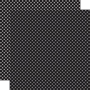 """Papel 12""""x12"""" Dots and Stripes Black"""