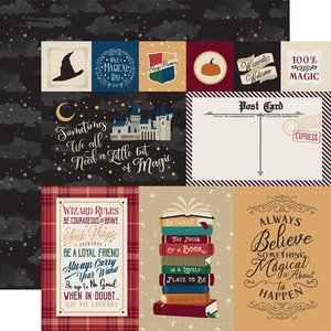 "Papel 12x12"" Witches & Wizards Journaling Cards"