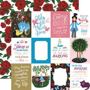 "Papel 12x12"" Alice in Wonderland v2 3x4 Journaling Cards"