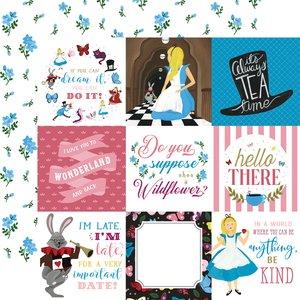"Papel 12x12"" Alice in Wonderland v2 4x4 Journaling Cards"