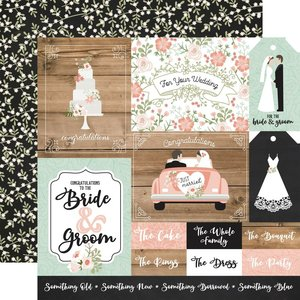 """Papel 12x12"""" Our Wedding Multi Journaling Cards"""