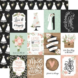 """Papel 12x12"""" Our Wedding 3x4 Journaling Cards"""