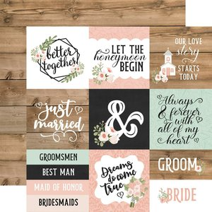 """Papel 12x12"""" Our Wedding 4x4 Journaling Cards"""