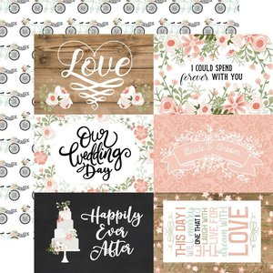 """Papel 12x12"""" Our Wedding 6x4 Journaling Cards"""