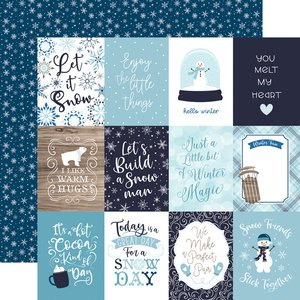 "Papel 12x12"" Winter Magic 3x4 Journaling Cards"