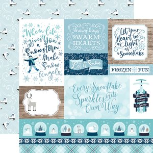 "Papel 12x12"" Winter Magic Multi Journaling Cards"