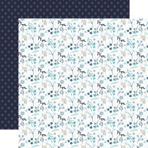 "Papel 12x12"" Winter Magic Frozen Floral"