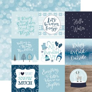 "Papel 12x12"" Winter Magic 4x4 Journaling Cards"