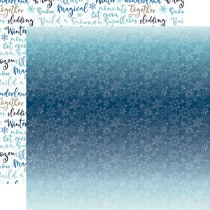 "Papel 12x12"" Winter Magic Icy Snowflakes"